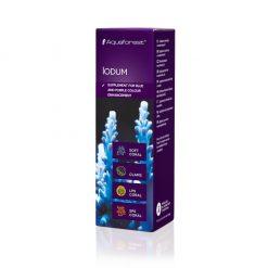 Aquaforest Iodum 10ml Jod - jest to suplement, który zawiera skoncentrowany jod. Jod jest bardzo ważnym składnikiem dla koralowców oraz bezkręgowców, ponieważ u korali twardych zwiększa wybarwienie koloru ciemnoniebieskiego oraz fioletowego.