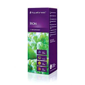 Aquaforest Iron 50 ml Żelazo jest bardzo ważnym mikroelementem wchłanianym przez koralowce twarde, skórzaste, ukwiały, oraz małże. Żelazo wpływa na piękniejsze wybarwianie się barwy zielonej, jest również niezbędne do procesu fotosyntezy.