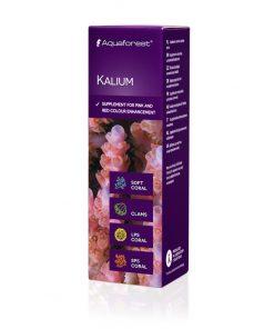 Aquaforest Kalium 10ml Potas Stężony potas w płynie, jest to bardzo ważny element wspomagający prawidłowe funkcje neurologiczne. Potas skutecznie wzmacnia piękne różowe i czerwone barwy koralowców SPS. U koralowców miękkich potas wspomaga transport składników odżywczych.