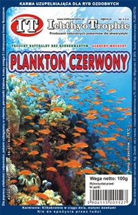 Mrożony pokarm - plankton czerwony 100g