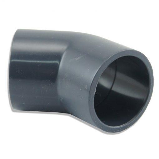 Kolanko PCV 45st 50 mm