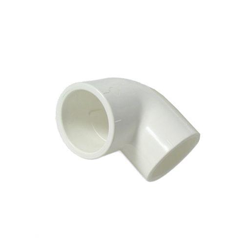 Kolano PCV 90x32mm biały