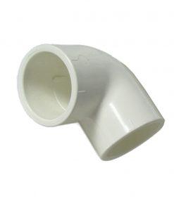 Kolano PCV 90x50mm biały