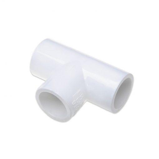 Trójnik PCV 90st 40mm biały